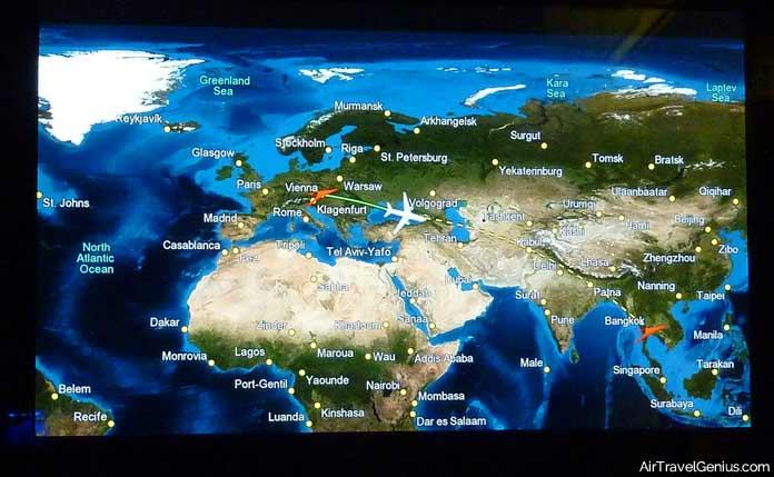 long-haul flight seat map