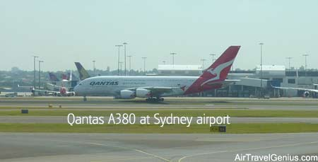 qantas a380 flight sydney