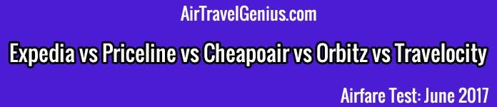 expedia vs priceline vs cheapoair vs orbitz vs travelocity