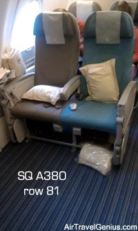 singapore airlines a380 upper deck seats