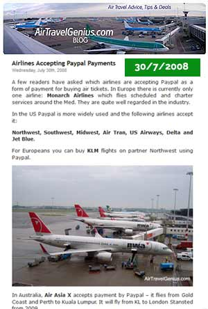 Which Airlines Accept Paypal Payments for Flights?