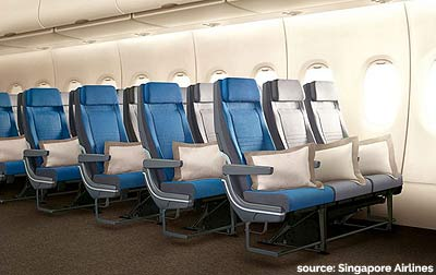 singapore airlines new economy seats