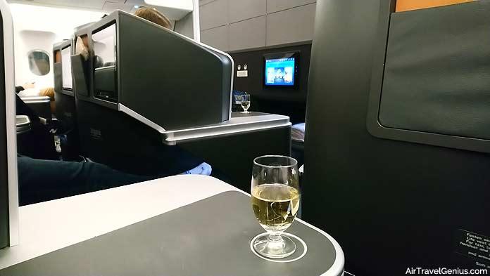 business class pre-flight drink