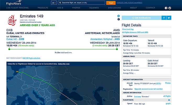 How To Find Your Personal Flight History