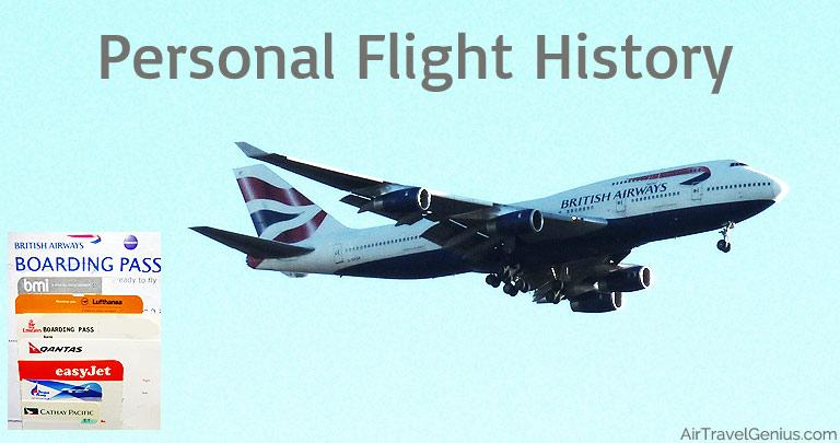 personal flight history