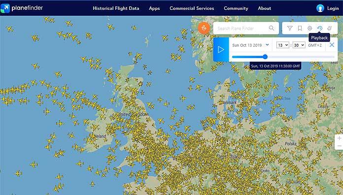 planefinder screenshot
